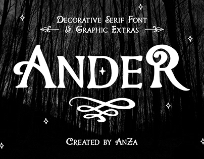 Ander Carefully Hand-Drawn Serif Font. FREE FONT FAMILY