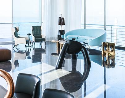 Ain el Mraysse Penthouse Residence by Gatserelia Design