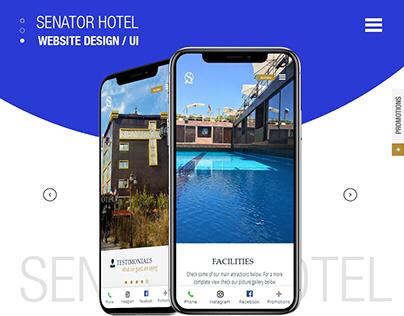 Website Design || Senator Hotel