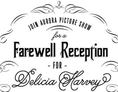 Aurora Picture Show Farewell Party Invite: DH