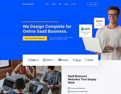 Website Landing Page Freebie Template