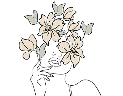 Minimalist woman silhuette