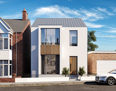 Infill Building CGI, Wellington Road, Exeter