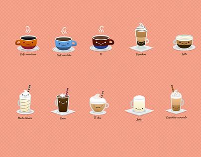 Ilustraciones de bebidas
