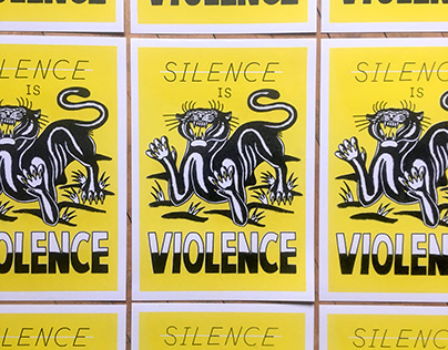 Silence is violence charity risograph print