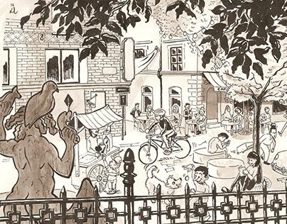 Editorial illustration – City Square