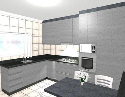 Projeto Cozinha Jef.! Móveis Sob Medida em MDF.