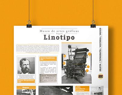 Infografía  LINOTIPO: MUSEO DE ARTES GRÁFICAS DE BOGOTÁ