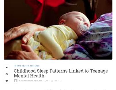 Childhood Sleep Patterns & Teenage Mental Health