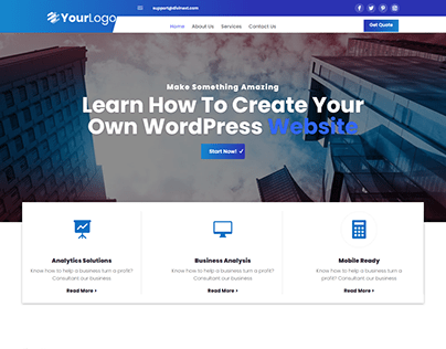 WordPress Website Using Divi Theme and Divi Builder.
