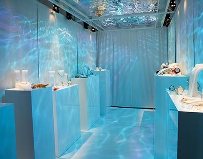 "Swarovski ""Sea of sparkle"" light installation"
