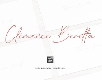 Clémence Beretta   Webdesign and logo design