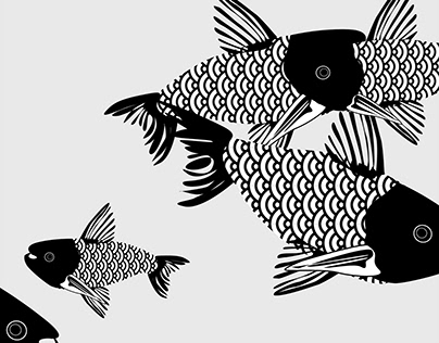 Fish koi animation
