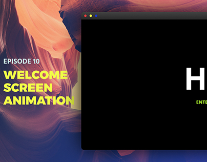 Welcome Screen Animation
