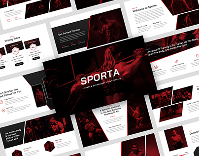 Sporta - Gym Trainer & Fitness Presentation Template