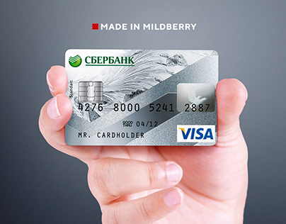 Debit and credit cards concept design for Sberbank
