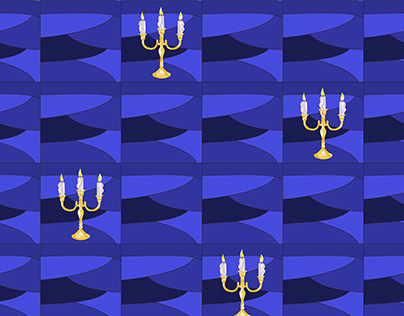 Seamless pattern with candles.