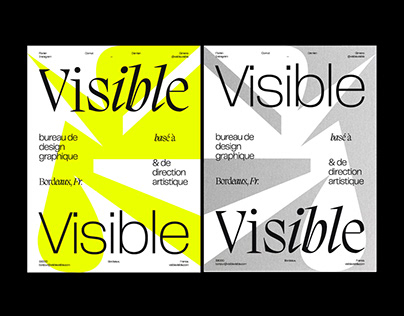Visible Visible * Type Poster - Editorial Design