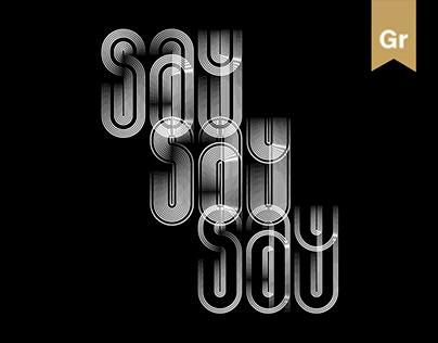 Say Say Say font