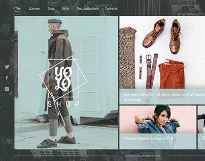 Yolo shop - main page