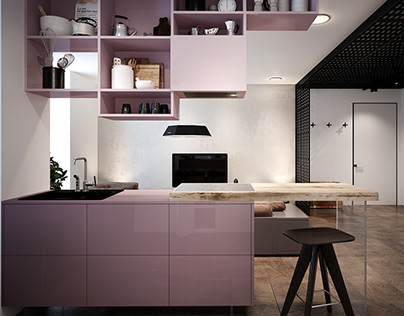 Pink - the apartment interior designed by ZOOI studio