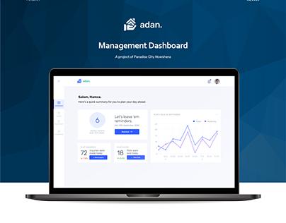 Adan - A real-estate management dashboard.