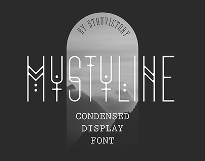 Mystyline - Condensed Display Font