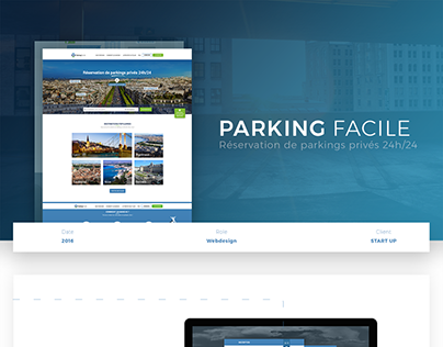 WEB DESIGN - Parking Facile
