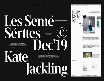Kate Jackling—Les Semé—Sérttes Dec'19