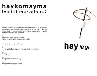 Haykomayma Clothing Brand