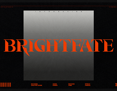 Brightfate Display Font