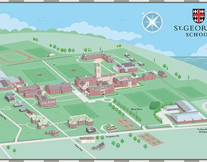 St George's 3D School Map