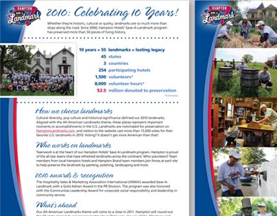 Hampton Save-a-Landmark 10th Anniv. Flyer