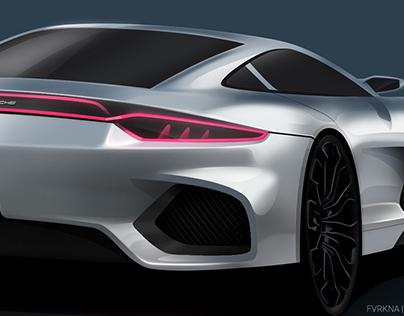 Porsche 911 Concept Sketch