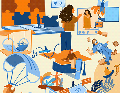 Illustrations for White Lines Collective