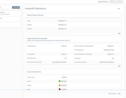 KPI Configurator Wireframes
