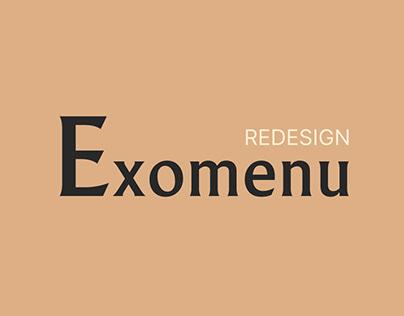 Exomenu — Redesign 2021