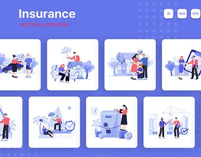 Insurance Illustration Pack