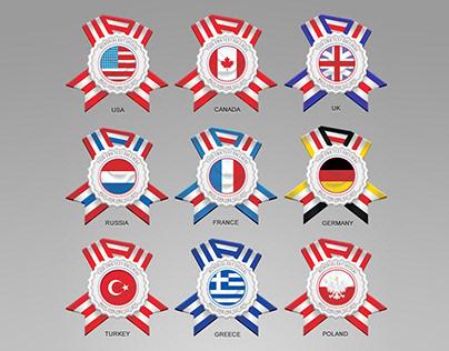 Editable Country Flag Badges
