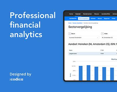 Enhanced finance analytics platform for Analist
