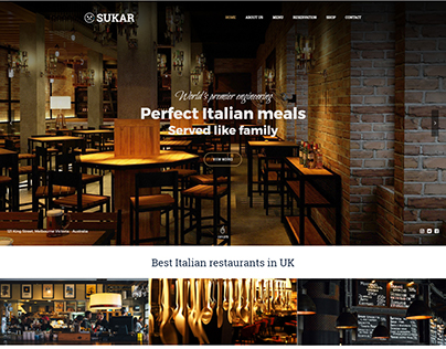 Sukar Restaurant WordPress Theme - DEMO 1