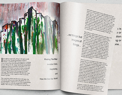 Invisible Cities Illustration and Layout Design
