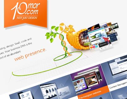 10mor.com e-commerce website design (Tablet friendly)