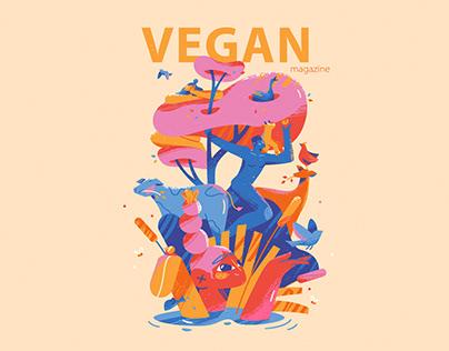 Vegan Magazine Cover Illustration