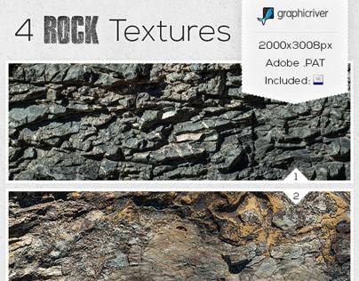 Texture Pack - 4 Rock Textures
