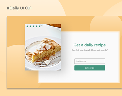 Daily recipe subscription