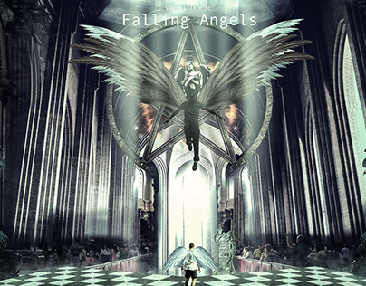 Wallpaper Falling Angels