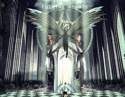Wallpaper Falling Angels