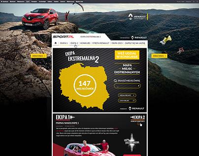 Renault Kadjar page layout