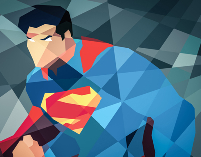 DC COMICS GOES GEOMETRIC